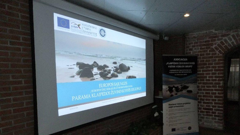 Klaipėdos m. bendruomenė supažindinta su ES parama Klaipėdos žuvininkystės regionui