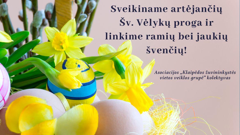 Sveikiname artėjančių švenčių proga!